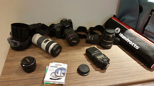 Canon 70D, lenses and accessories
