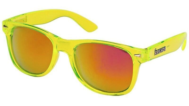 Brigada Eyewear LAWLESS Skateboard Sunglasses CLEAR LIME/RED
