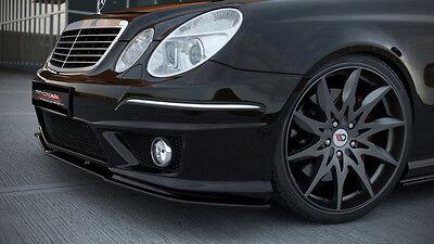 Spoilerlippe Frontspoiler für Mercedes E Klasse W211 AMG Bj. 06-09 Facelift ABS