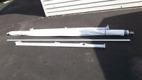 10 foot manuel awning and mounting arms for travel trailer