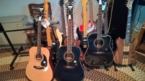New  EPIPHONE ACOUSTIC GUITARS AND OTHERS!