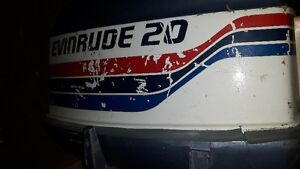 Evinrude 20hp Outboard Motor, Works/Runs Great, $1000 obo