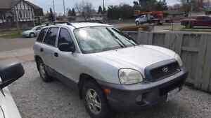 2001 Hyundai Santa Fe sold as is $300