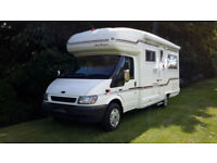 2003 '03' AUTOSLEEPER RIENZA 2 BERTH MOTORHOME ON TRANSIT 350. ONLY 45800 MILES.