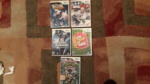 wii games just dance 2, rayman,WWF Wrestling, etc
