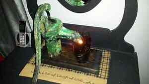 Antique pump turned into a lamp