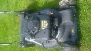 Stanley 190Cc Big Wheel Lawnmower Bagger Works Great