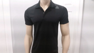 Reebok Sport Essentials Black Polo Shirt Size XXL