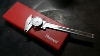 Starrett 1202-6 Dial Caliper, Stainless Steel, White Face, 0-6""