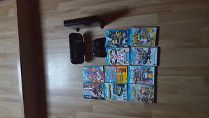 Wii u with pro controller and 10 games
