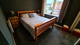 King Size solid pine bed frame and mattress