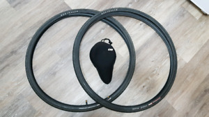 700c x 32 Bontrager Satellite tires in excellent condition!