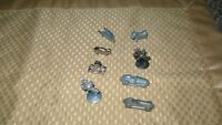 "VINTAGE ""8 ORIGINAL MONOPOLY GAME PIECES"" PEWTER"