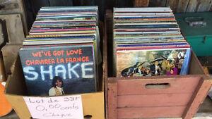 lot de disque, vinyle 33 tours 50 cents chaque plus de 500