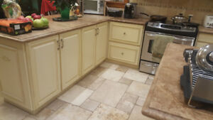 Used Kitchen Cabinets with Countertops for Sale
