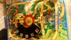 Wooden thomas the train table with lot of extras