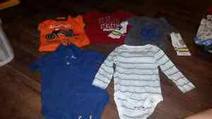Assortment of baby clothing