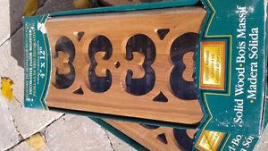 4x12 hardwood vent grates (new ) Peterborough Peterborough Area image 1