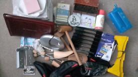 Joblot bric a brac, Feng Shui game, photographic paper, sorting files etc