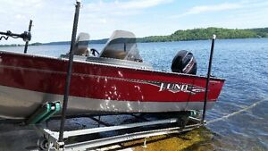 1650 Rebel XLSS Lund Boat With Trailer and Troling Motor for sal