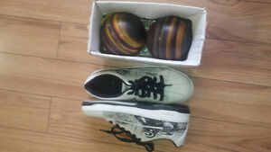 euc bowling balls/shoes