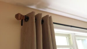 Curtain Rod and Panels