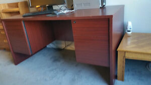 sturdy solid office desk.