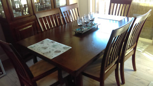 Solid wood dinning table and China cabinet
