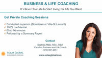 BUSINESS AND LIFE COACHING