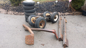 Tow Truck Recovery self loading dolly wheels and accessories