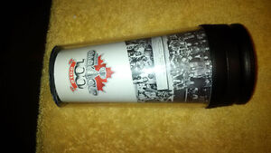 2012 CFL 100th Grey Cup Football Thermos Collectible Argos Stamp