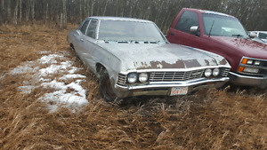67 chev Biscayne 4dr for trade on 750 touring bike