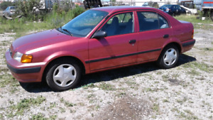 1997 Toyota Tercel $1800 ONLY 88,000KMS