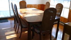 Set de salle à manger COEUR DE CHÊNE de maque sklar  peppler