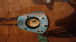 Painted Wrangler cowboy hats with bling