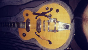Gibson Wildkat Ac/ele w Bigsby bridge+lockn hardcase+Korg multip