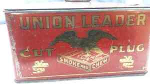 Vintage Union Leader tobacco tin