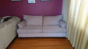 Rose suede couch