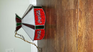 Vintage Coca Cola Tiffany style Hanging lamp
