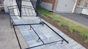 Steel bed frame, queen size