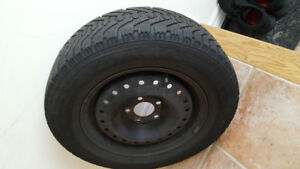 TOYOTA CAMRY 205/65R15 94V WINTER TIRE AND RIMS