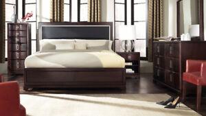 Floor model  Bedroom 6pcs. Queen or King Hbd. in stock