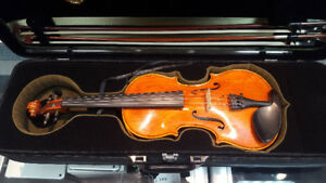 H. SIEGLER HS-40 4/4 VIOLIN W/CASE & ACCESSORIES