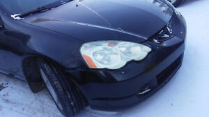 2003 Acura RSX Black Coupe (2 door) rsx 5 sp. manual/3 sp.auto.