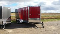7x16 All Aluminum snowmobile trailer colors available