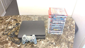 Ps3. With 22 games. 1 controller cables. Very good condition.
