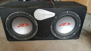 """Car Stereo 2 Alpine Subs 12"""" and Alpine Amp"""