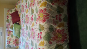Brand new queen size comforter pillows and shams