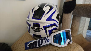 Barely used helmet and goggles