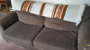 Pull out couch brown fabric